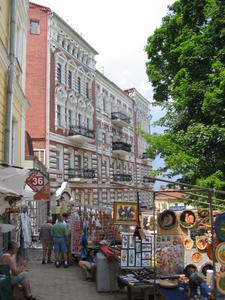 Artisan market on Andreyevsky Slope in Kyiv, Ukraine, Ukraine